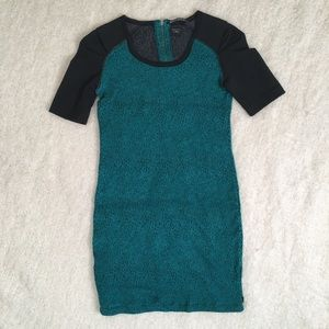 Maison Scotch and Soda Ruched Colorblock Dress